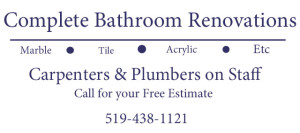 Bathroom Renovation Sign